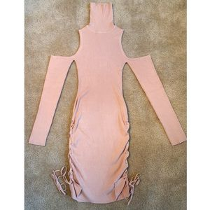 NWT blush sweater dress with open shoulders ✨